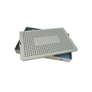 "Aluminum Sterilization Tray Deep Single Layer 15"" L X 10"" W X 1.5"" H"